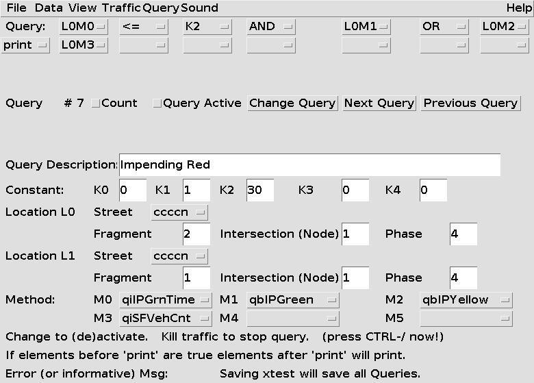 Query Entry Panel